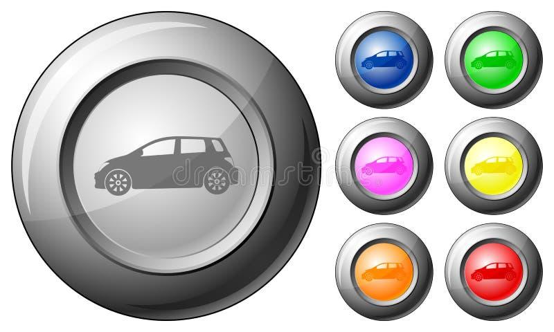 Voiture de bouton de sphère illustration de vecteur