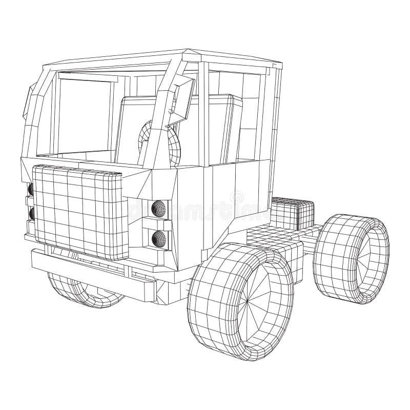 Voiture de camion ou de camion Vecteur illustration de vecteur