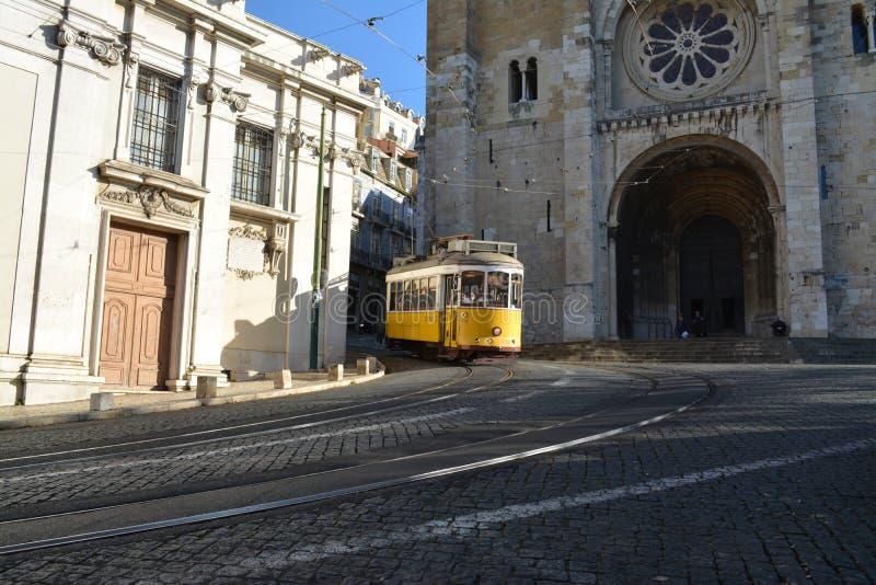 Voiture de chariot à Lisbonne image libre de droits