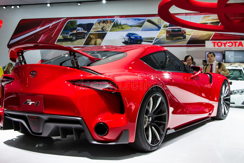 Voiture de concept de sport de Toyota FT-1 photo stock