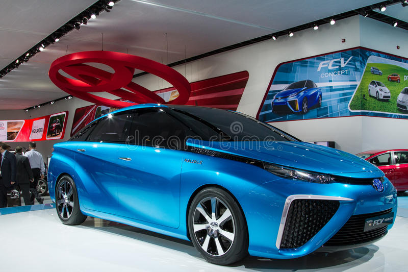 Voiture de concept de Toyota FCV photo stock