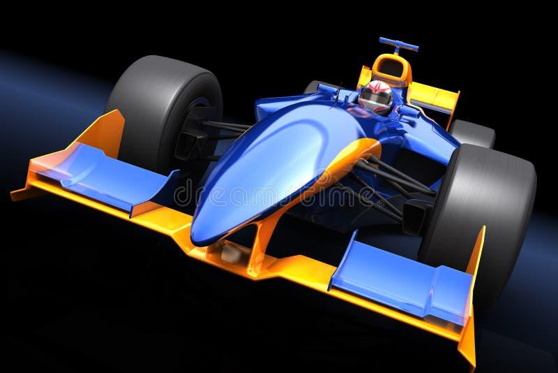 Voiture de course bleue générique illustration libre de droits