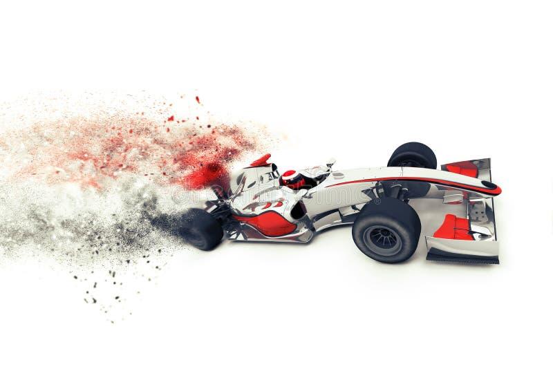 Voiture de course 3D générique ultra-rapide illustration libre de droits