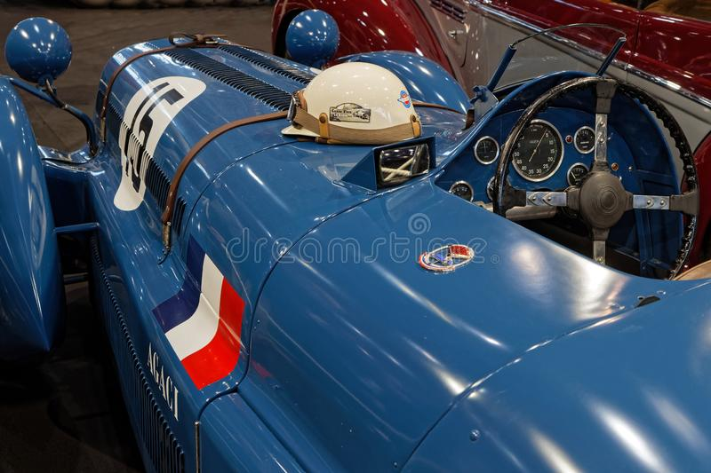 Voiture de course Delage 1947 au spectacle automobile images libres de droits