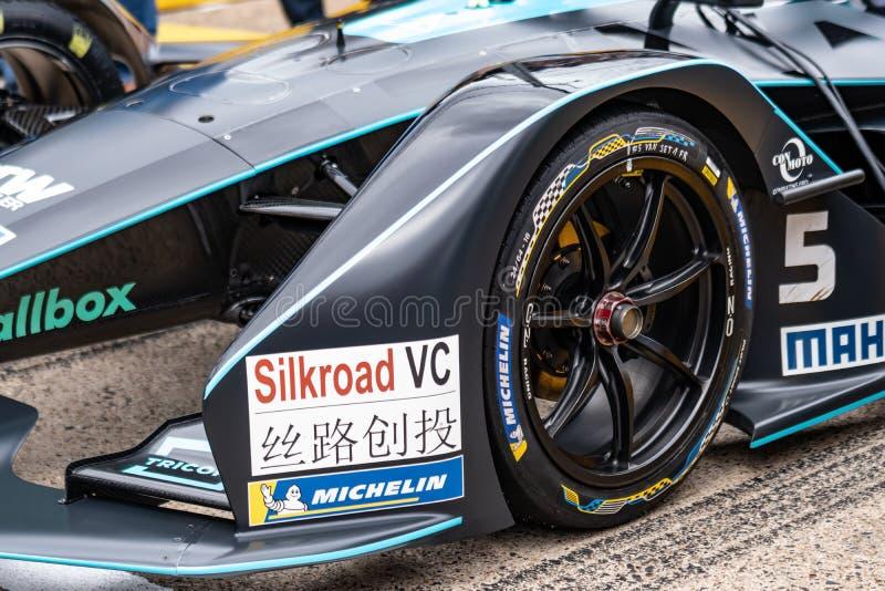 Voiture de course de FIA Formula E photos libres de droits