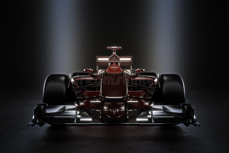 Voiture de course lisse de sports automobiles d'équipe avec l'éclairage de studio illustration libre de droits