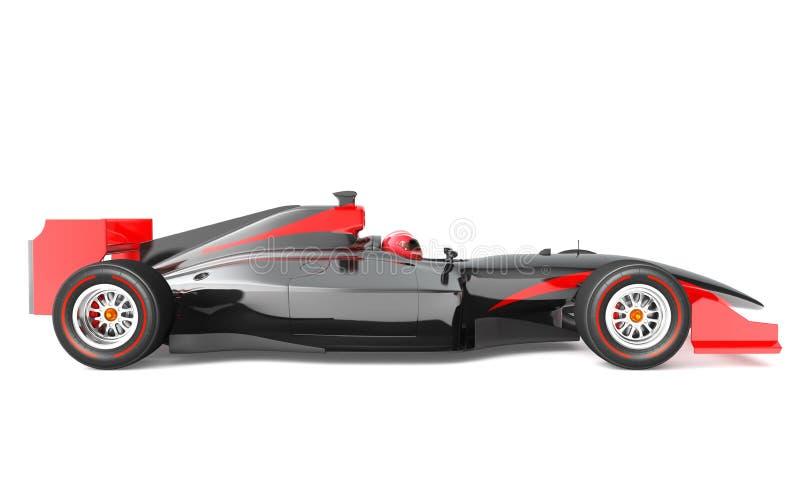 Voiture de course noire et rouge générique illustration libre de droits