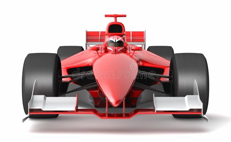 Voiture de course rouge générique illustration de vecteur