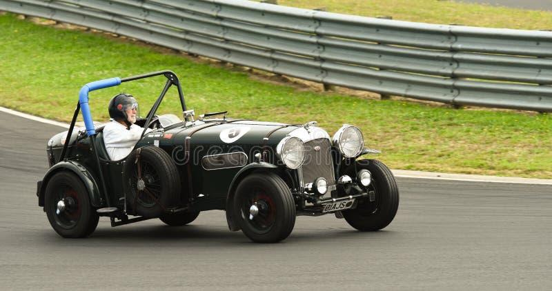 Voiture de course spéciale de Jaguar solides solubles de vintage photos stock