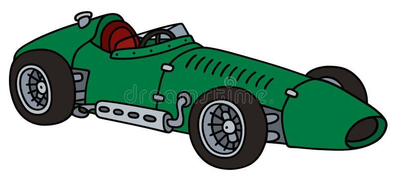 Voiture de course verte classique illustration de vecteur