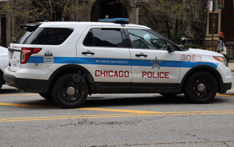 Voiture de Département de Police de Chicago Chicago du centre photos libres de droits