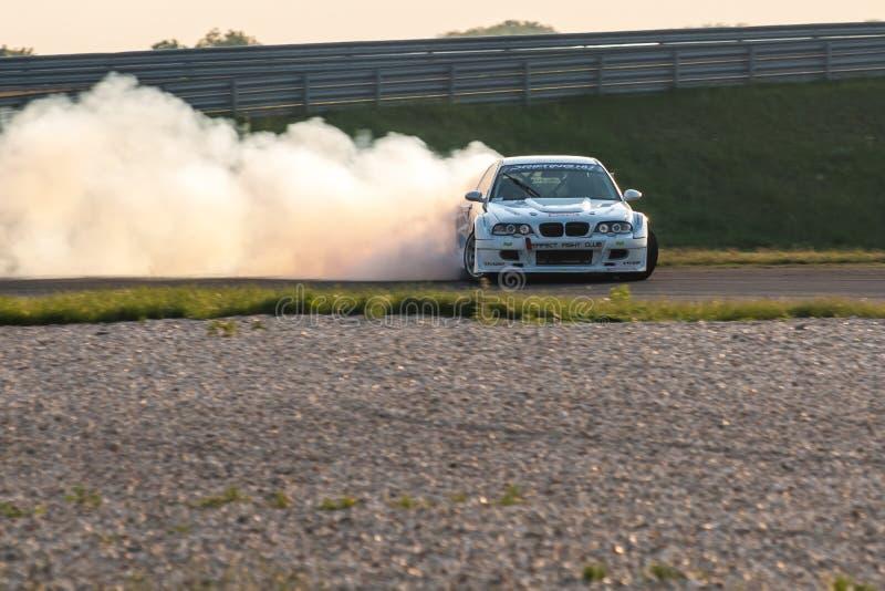 Voiture de dérive de BMW M3 image stock