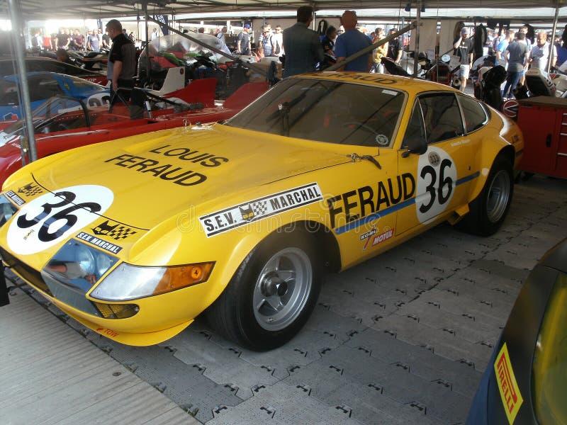 Voiture 1972 de Ferrari Daytona 365 GTB/4 images libres de droits