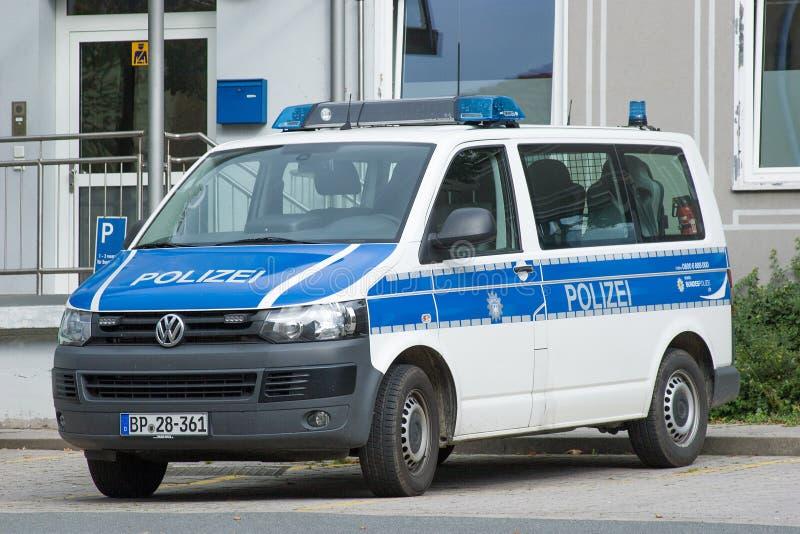 Voiture de fonction d'offi fédéral allemand de police photos stock