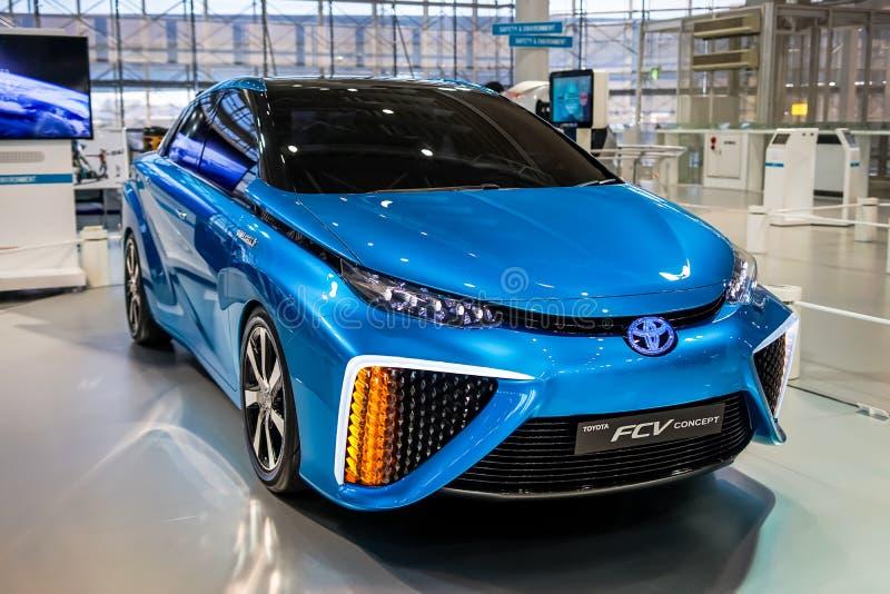 Voiture de fuelcell de Toyota Mirai images libres de droits