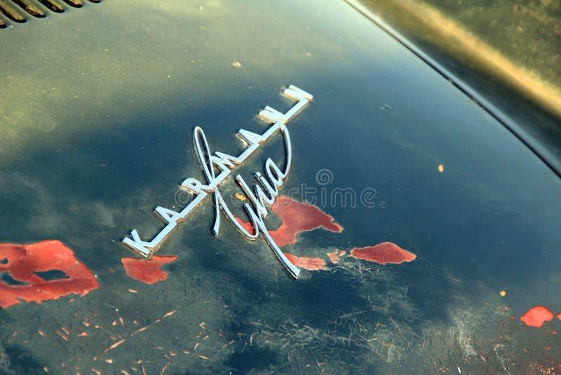 Voiture de ghia de karmann de VW rétro photos stock