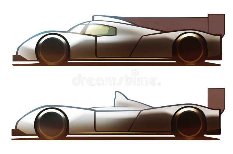 Voiture de Le Mans de carrosserie illustration libre de droits