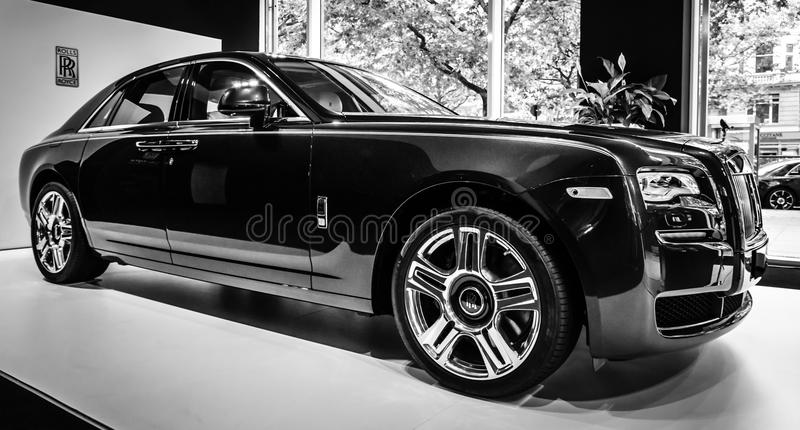 Voiture de luxe normale Rolls Royce Ghost (depuis 2010) image libre de droits