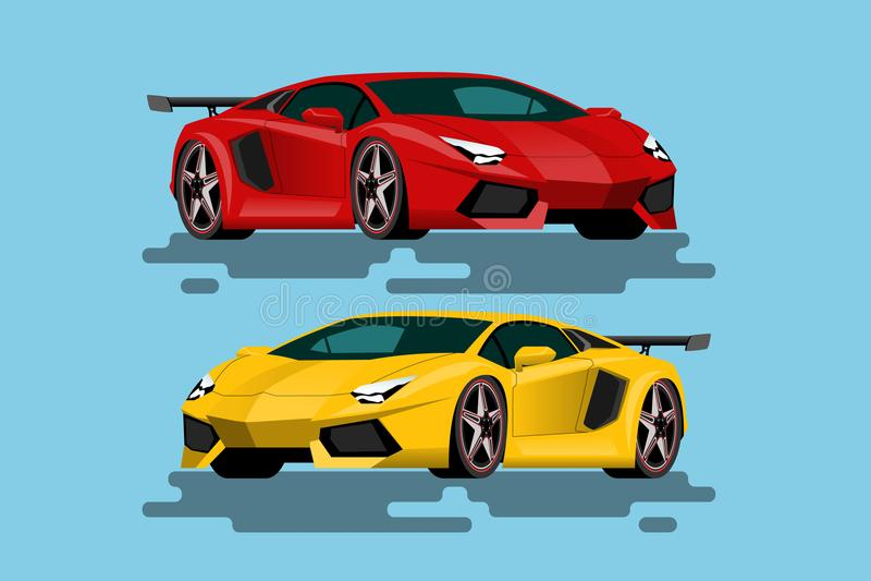 Voiture de luxe superbe pour les personnes qui aiment la grande vitesse véhicules Nouveau-formulés dans le concept de l'agilité illustration libre de droits