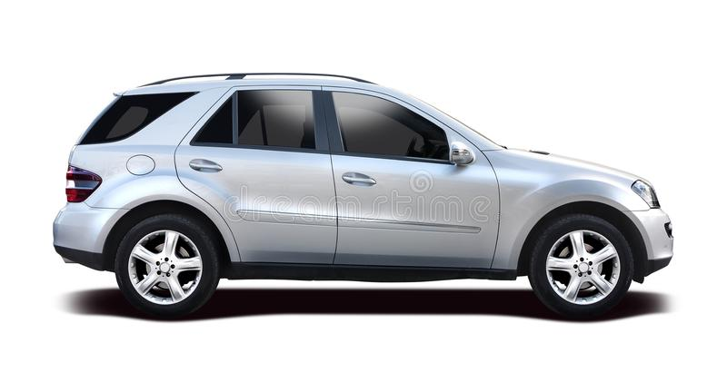 Voiture de Mercedes SUV d'isolement sur le blanc photo stock
