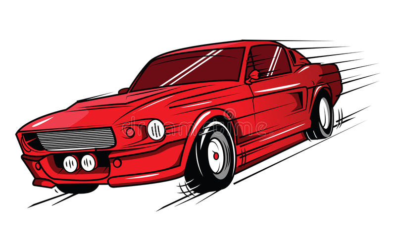Voiture de muscle illustration libre de droits