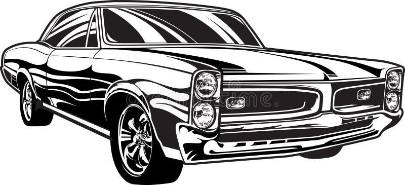 voiture de muscle des années 1960 illustration stock