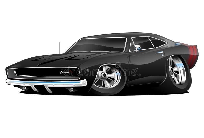 68 voiture de muscle du chargeur R/T illustration stock