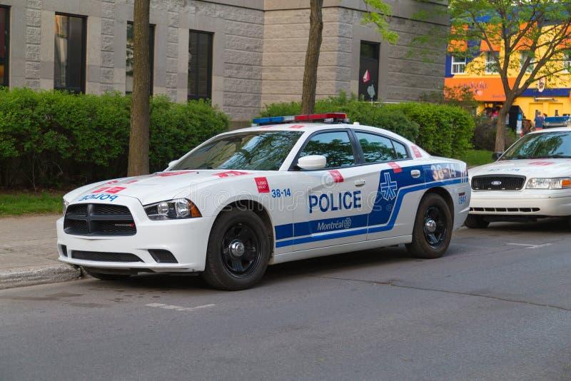 Voiture de police à Montréal photographie stock