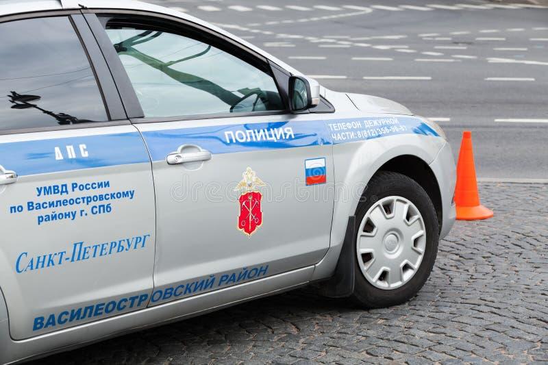 Voiture de police de la circulation russe, Ford Focus image libre de droits
