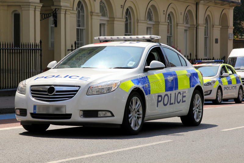 voiture de police de londres vue de face photo stock image 43346756. Black Bedroom Furniture Sets. Home Design Ideas