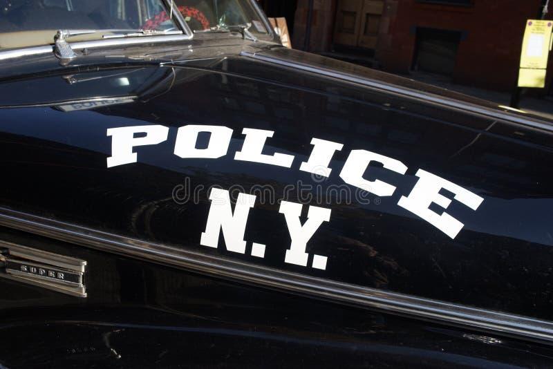 Voiture de police de New York de cru photos stock