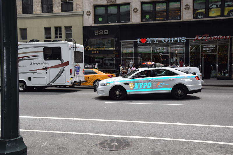 Voiture de police New York royalty free stock images