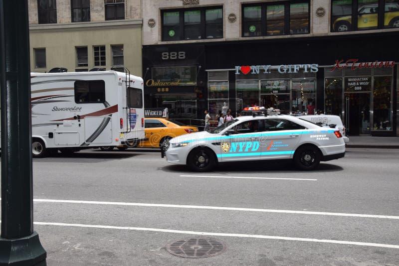 Voiture de polisen New York royaltyfria bilder