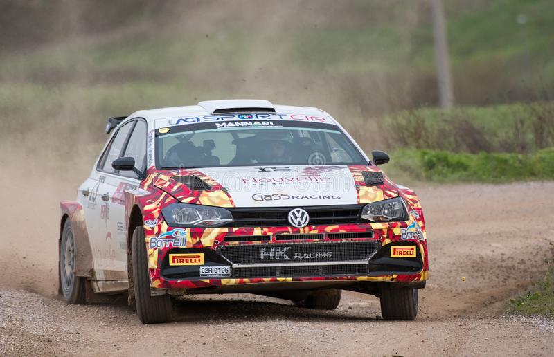 Voiture de rallye Wolkswagen polo r5 images stock