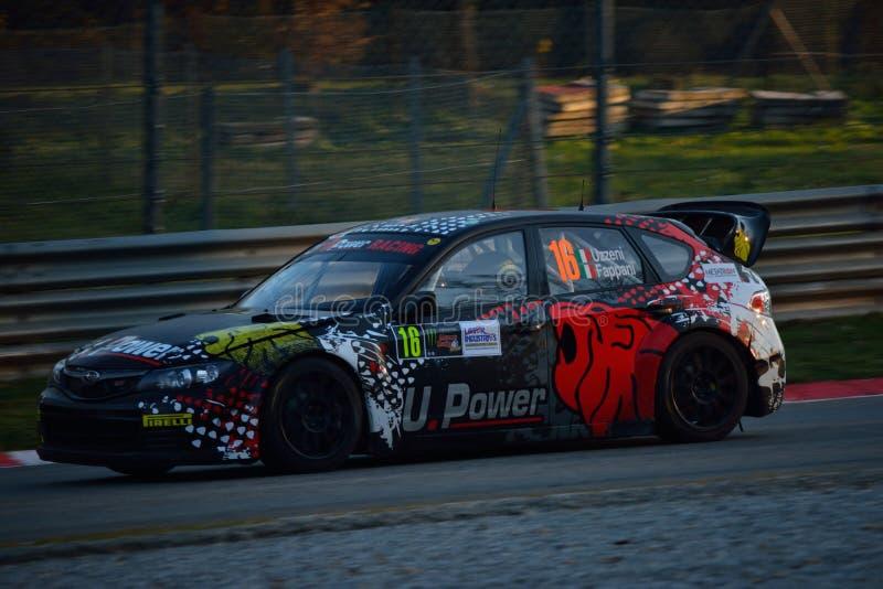 Voiture de rassemblement du monde de Subaru Impreza WRC à Monza photographie stock libre de droits