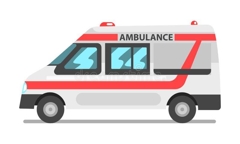 Voiture de service d'ambulance, illustration de vecteur de véhicule de service médical de secours sur un fond blanc illustration de vecteur