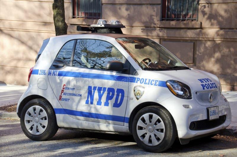 Voiture de Smart de Département de Police de New York photos libres de droits