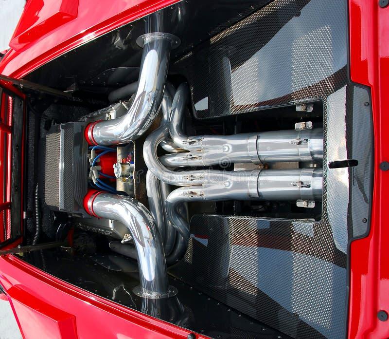 Voiture de sport chère avec la conception arrière d'engine image stock