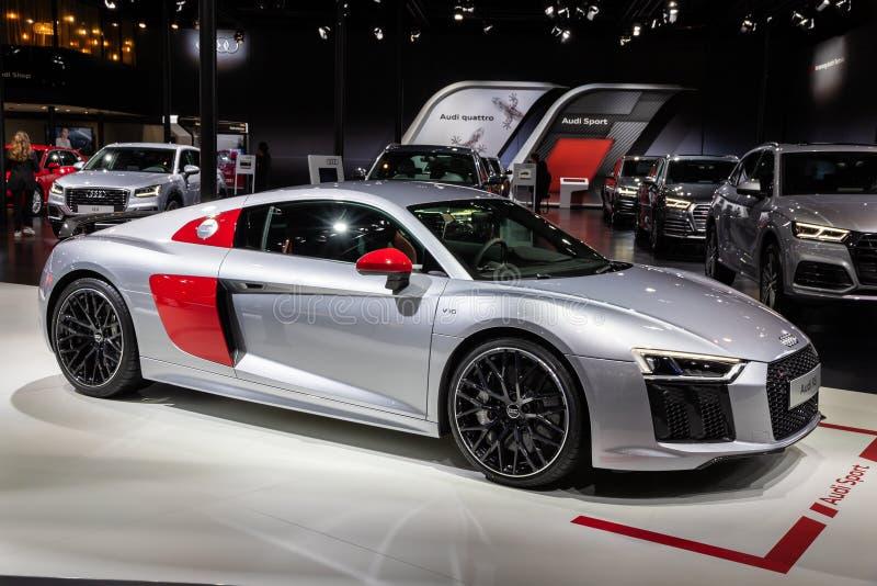 Voiture de sport d'Audi R8 V10 photos libres de droits