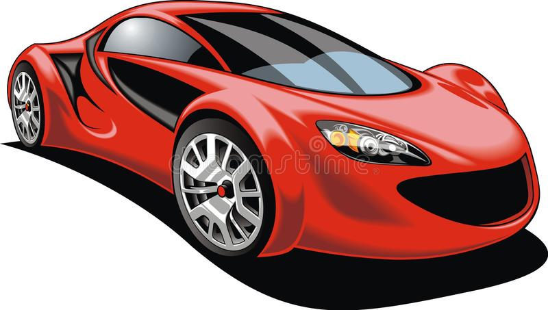 Voiture de sport d'isolement illustration stock