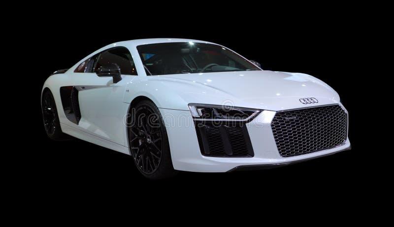 Voiture de sport d'isolement - Audi R8 V10 plus photos stock
