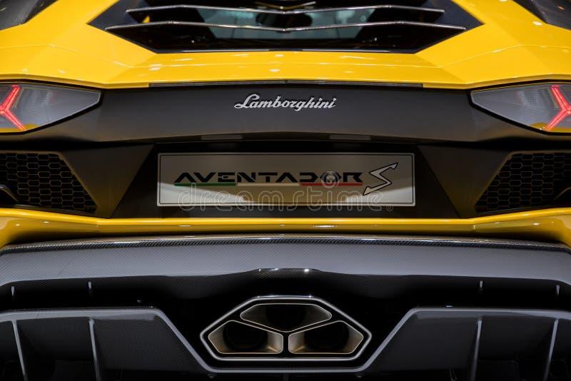 Voiture de sport de Lamborghini Aventador S photographie stock