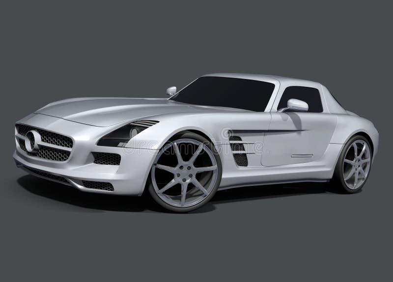 Voiture de sport de Mercedes SLS AMG illustration de vecteur