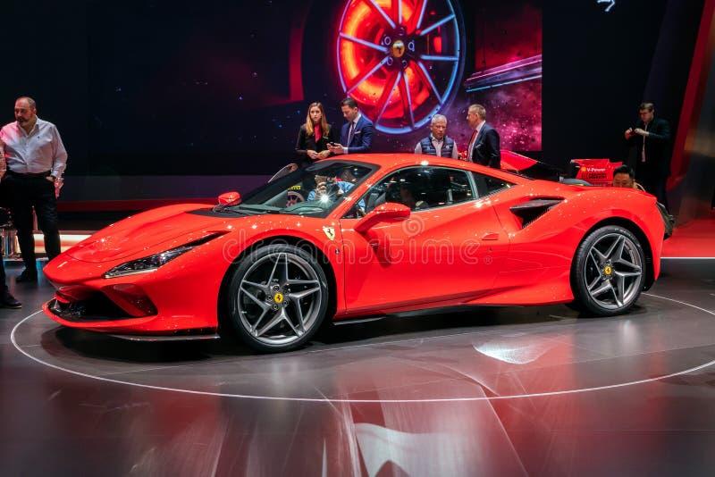 Voiture de sport de Ferrari F8 Tributo photographie stock