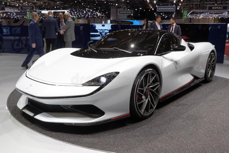 Voiture de sport hyper de Pininfarina Battista EV photos libres de droits