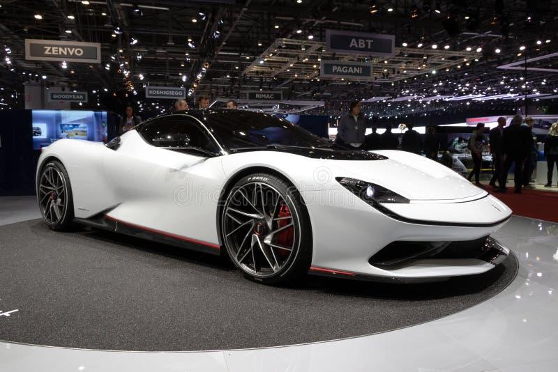 Voiture de sport hyper de Pininfarina Battista EV photographie stock libre de droits