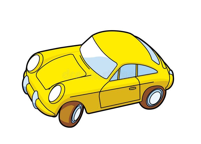 Voiture de sport jaune illustration stock