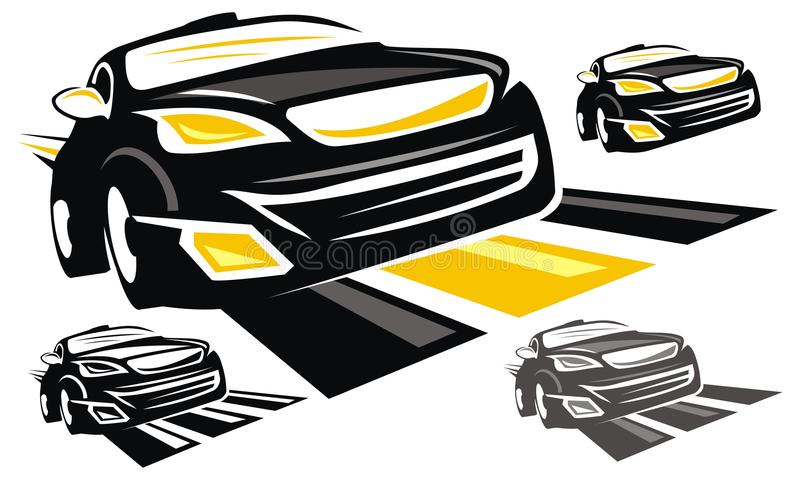 Voiture de sport Logo Design Template illustration stock
