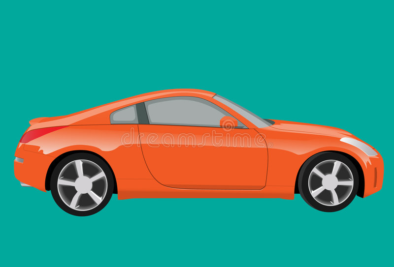 Voiture de sport orange illustration stock