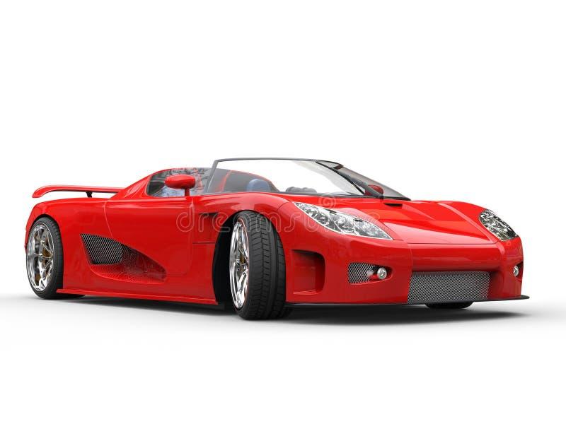 voiture de sport rouge lumineuse sur le fond blanc photo stock image 66972003. Black Bedroom Furniture Sets. Home Design Ideas